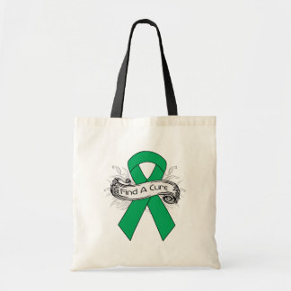 Liver Cancer Find A Cure Ribbon Canvas Bags