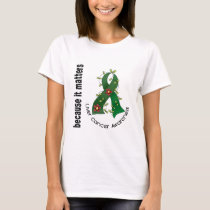 Liver Cancer Flower Ribbon 3 T-Shirt