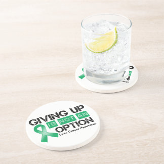Liver Cancer Giving Up Is Not An Option Beverage Coaster
