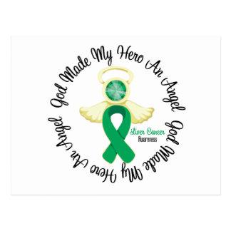 Liver Cancer God Made My Hero An Angel Postcard