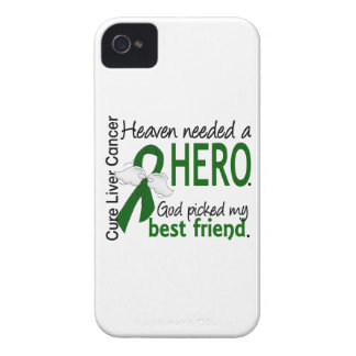 Liver Cancer Heaven Needed a Hero Best Friend iPhone 4 Case-Mate Cases