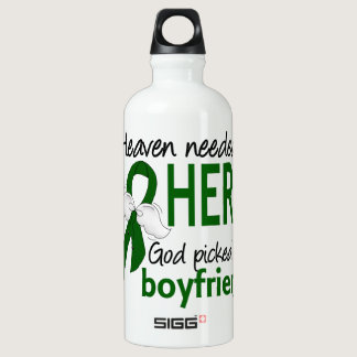 Liver Cancer Heaven Needed a Hero Boyfriend Water Bottle