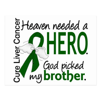 Liver Cancer Heaven Needed a Hero Brother Postcard