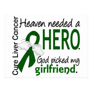 Liver Cancer Heaven Needed a Hero Girlfriend Postcard