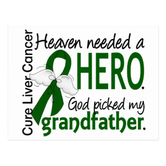 Liver Cancer Heaven Needed a Hero Grandfather Postcard