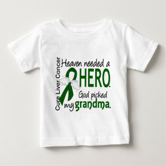 Liver Cancer Heaven Needed a Hero Grandma Baby T-Shirt