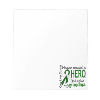 Liver Cancer Heaven Needed a Hero Grandma Note Pads