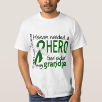 Liver Cancer Heaven Needed a Hero Grandpa T-Shirt