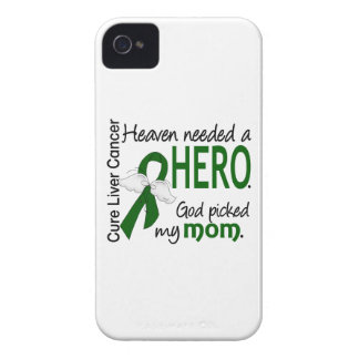 Liver Cancer Heaven Needed a Hero Mom iPhone 4 Case-Mate Case