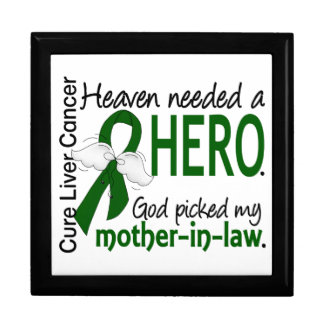 Liver Cancer Heaven Needed a Hero Mother-In-Law Trinket Boxes