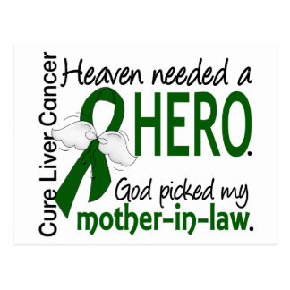 Liver Cancer Heaven Needed a Hero Mother-In-Law Postcard
