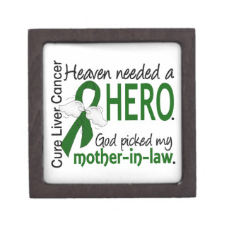Liver Cancer Heaven Needed a Hero Mother-In-Law Premium Jewelry Box