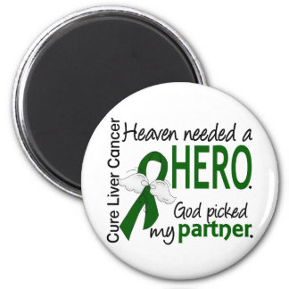 Liver Cancer Heaven Needed a Hero Partner 2 Inch Round Magnet