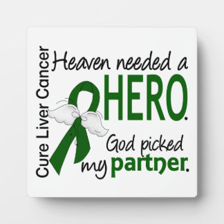 Liver Cancer Heaven Needed a Hero Partner Display Plaque