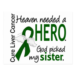 Liver Cancer Heaven Needed a Hero Sister Postcard