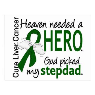 Liver Cancer Heaven Needed a Hero Stepdad Postcard