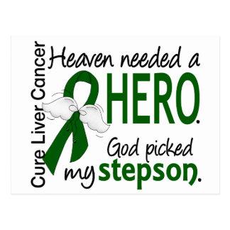 Liver Cancer Heaven Needed a Hero Stepson Postcard