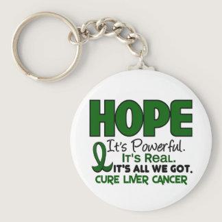Liver Cancer HOPE 1 Keychain