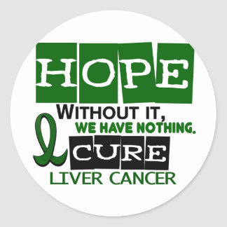 Liver Cancer HOPE 2 Classic Round Sticker