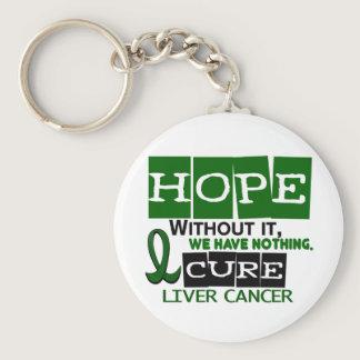 Liver Cancer HOPE 2 Keychain