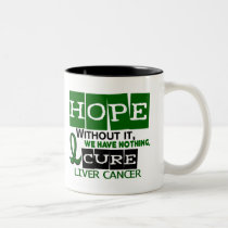 Liver Cancer HOPE 2 Two-Tone Coffee Mug