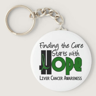 Liver Cancer HOPE 4 Keychain