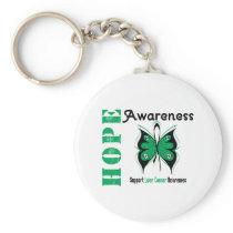 Liver Cancer Hope Awareness Keychain