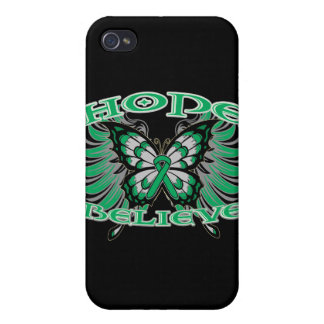 Liver Cancer Hope Believe Butterfly Cover For iPhone 4