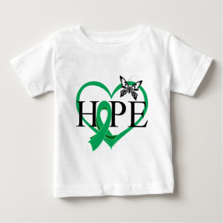 Liver Cancer Hope Butterfly Heart Décor Baby T-Shirt