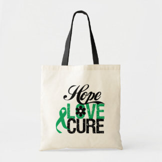 LIVER CANCER Hope Love CURE Canvas Bags