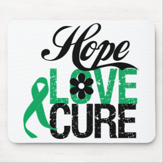 LIVER CANCER Hope Love CURE Mouse Pads