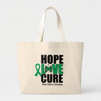 Liver Cancer Hope Love Cure Tote Bag