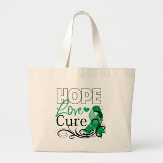 Liver Cancer Hope Love Cure Tote Bags