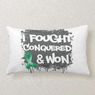 Liver Cancer I Fought Conquered Won Throw Pillows