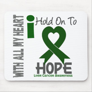 Liver Cancer I Hold On To Hope Mouse Pads