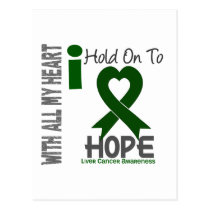 Liver Cancer I Hold On To Hope Postcard