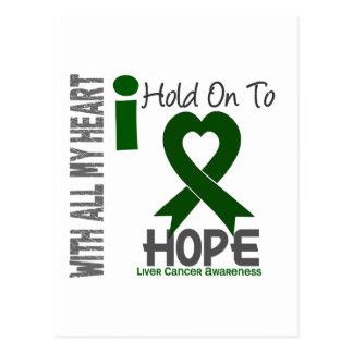 Liver Cancer I Hold On To Hope Postcard