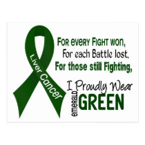 Liver Cancer I Proudly Wear Emerald Green 1 Postcard
