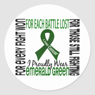 Liver Cancer I Proudly Wear Emerald Green 2 Classic Round Sticker