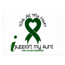 LIVER CANCER I Support My Aunt Postcard