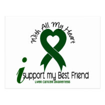 LIVER CANCER I Support My Best Friend Postcard