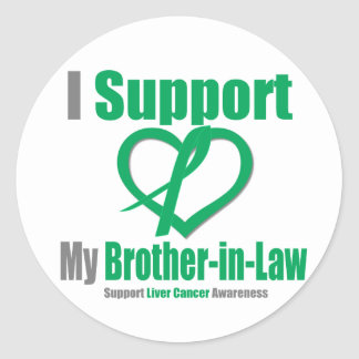 Liver Cancer I Support My Brother-in-Law Sticker