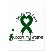 LIVER CANCER I Support My Brother Postcard