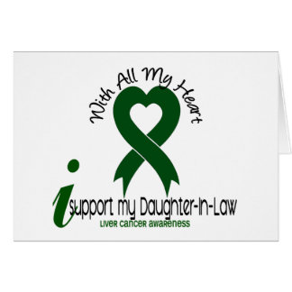 LIVER CANCER I Support My Daughter-In-Law Card