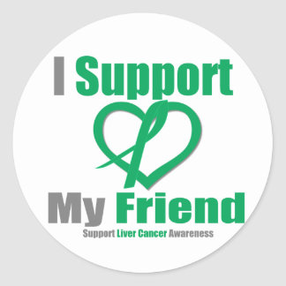 Liver Cancer I Support My Friend Stickers