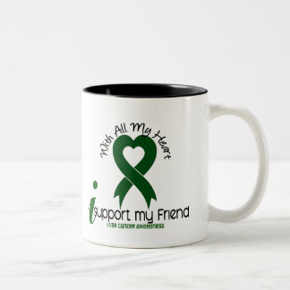 LIVER CANCER I Support My Friend Two-Tone Coffee Mug