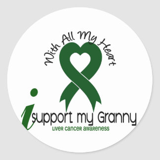 LIVER CANCER I Support My Granny Classic Round Sticker