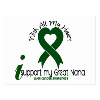 LIVER CANCER I Support My Great Nana Postcard