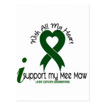 LIVER CANCER I Support My Mee Maw Postcard