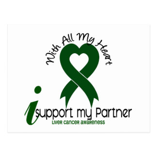 LIVER CANCER I Support My Partner Postcard